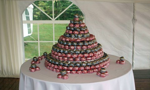 Teacakes as a wedding cake